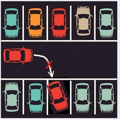 Ilustración de autos estacionados