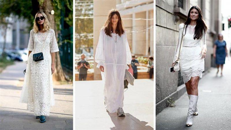Diferentes formas de usar un vestido blanco