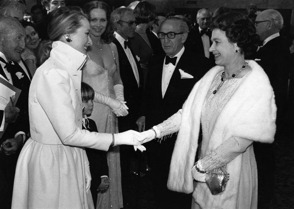 Meryl Streep y la reina Elizabeth