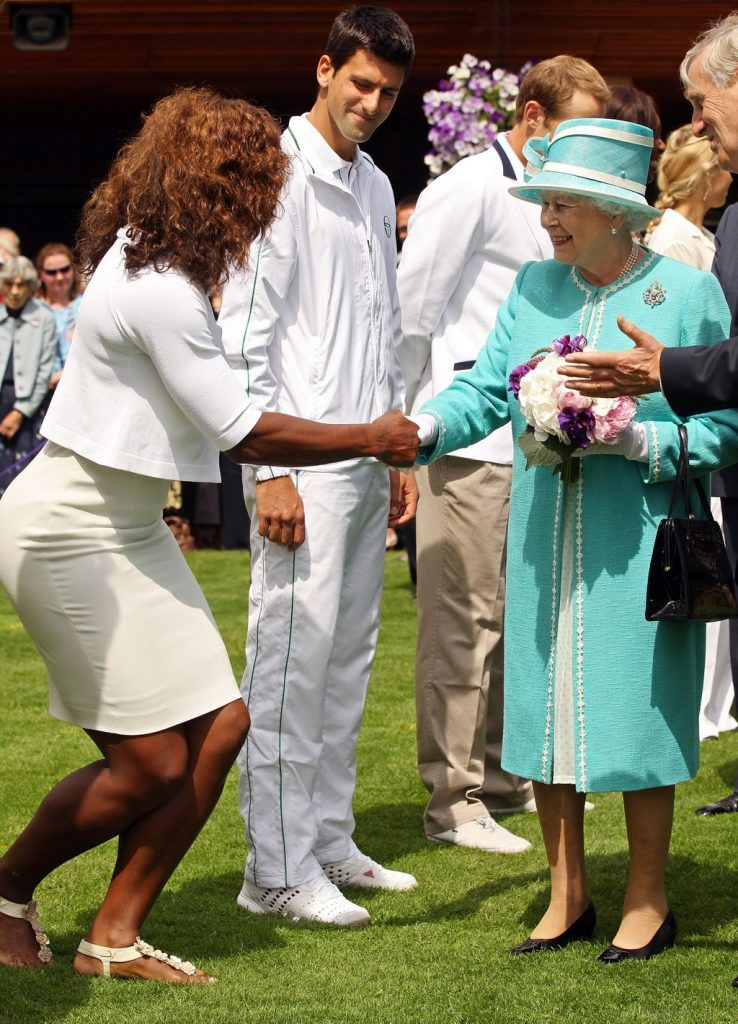 Serena Williams y la reina Elizaeth