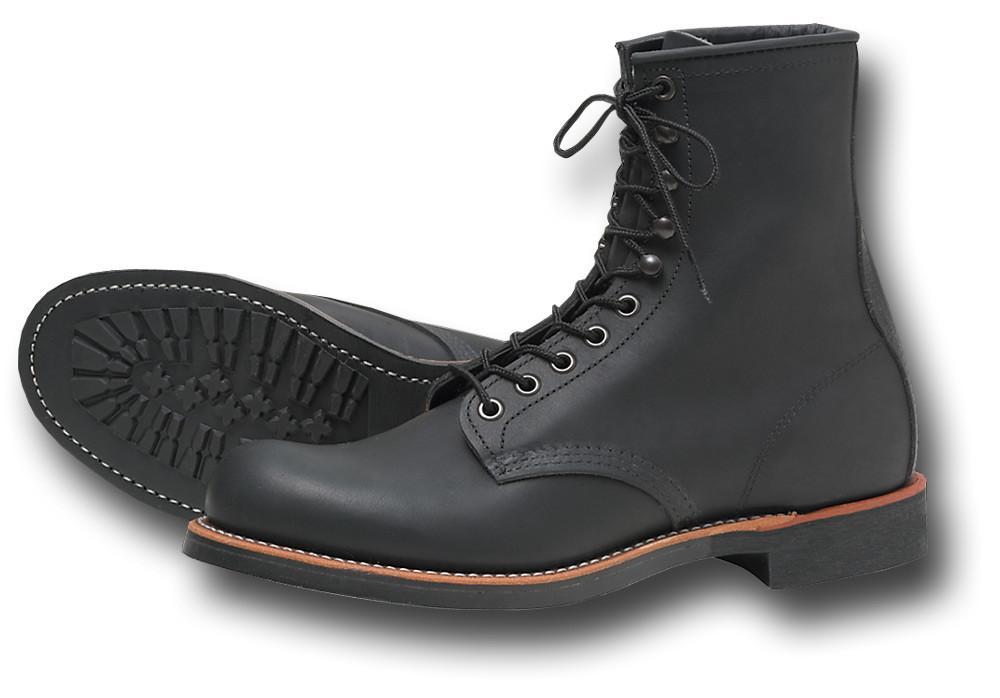 botas negras para hombre