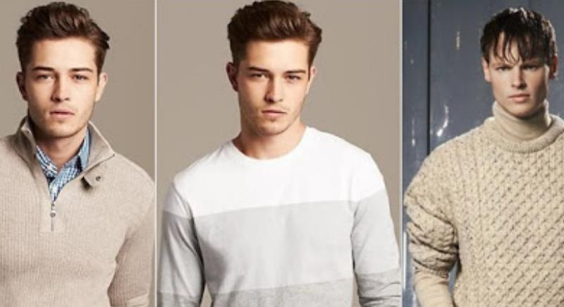 Hombres con suéteres distintos..