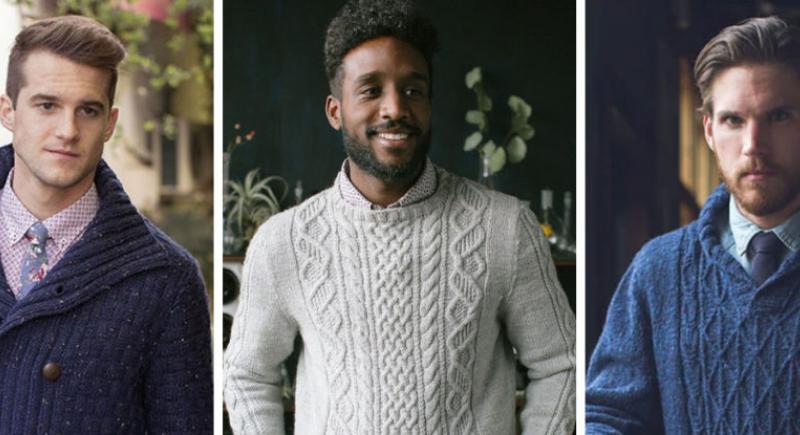 Hombres con suéteres de estilos diferentes.