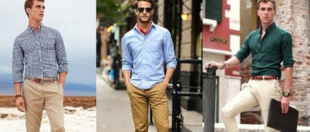 Hombres con ropa casual para cita.