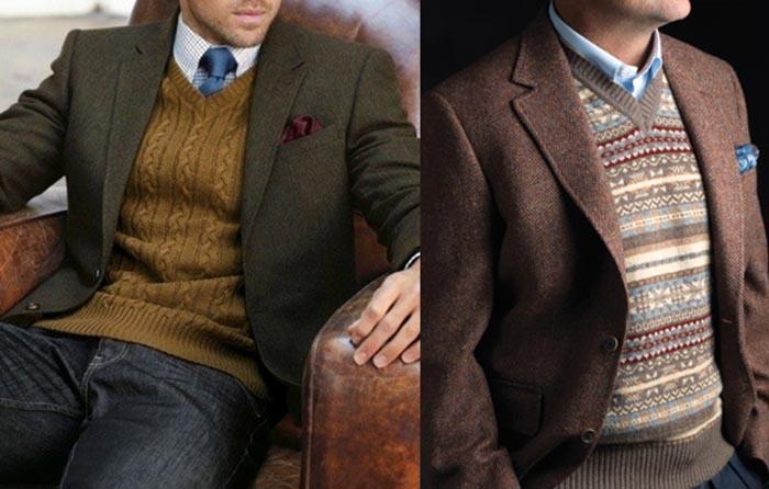 Hombre usando suéter de vestir para la oficina