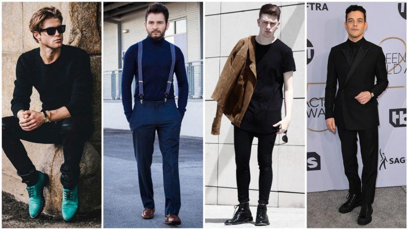 Suéter negro hombre