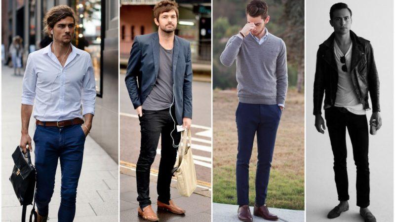 Hombres con pantalón de vestir