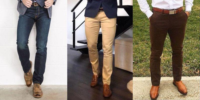 Hombres con pantalones de vestir..