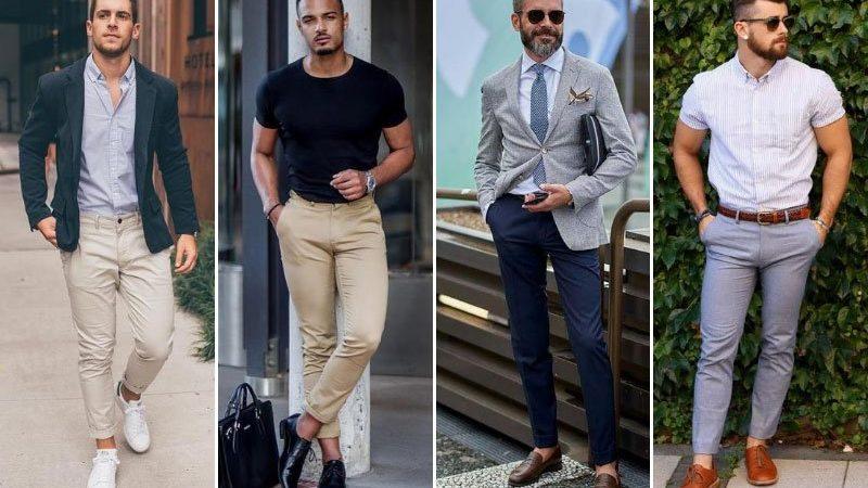 Hombres con pantalones diferentes